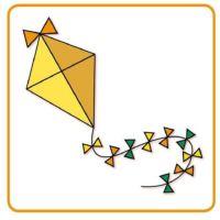 Bild Papierdrache - latawiec - papírový drak