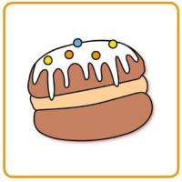 Bild Pfannkuchen - pączek - kobliha