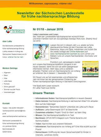 Dokumentbild LaNa-Newsletter Nr. 18/01