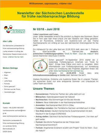 Dokumentbild LaNa-Newsletter Nr. 18/03