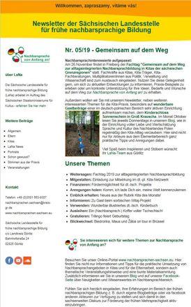 Dokumentbild LaNa-Newsletter Nr. 19/05