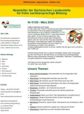 Dokumentbild LaNa-Newsletter Nr. 20/01