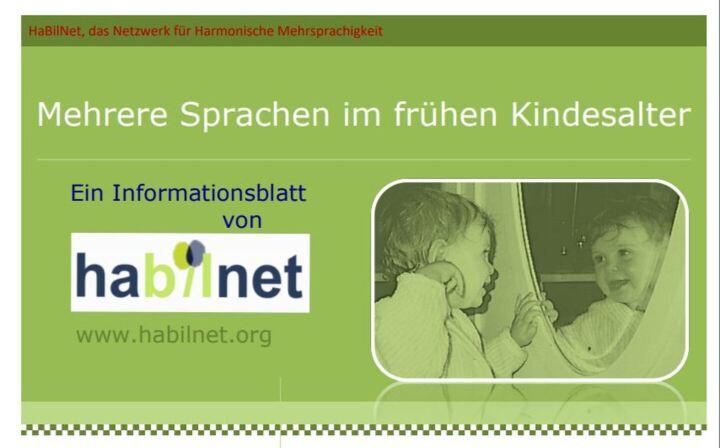 Dokumentbild Mehrere Sprachen im frühen Kindesalter