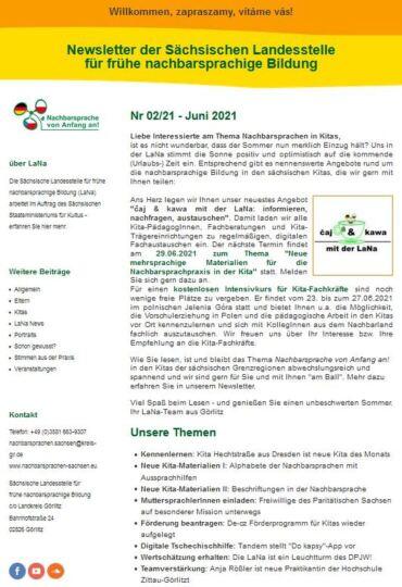 Dokumentbild LaNa-Newsletter Nr. 21/02
