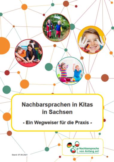 """Dokumentbild Orientierungsrahmen """"Nachbarsprachen in Kitas in Sachsen"""""""