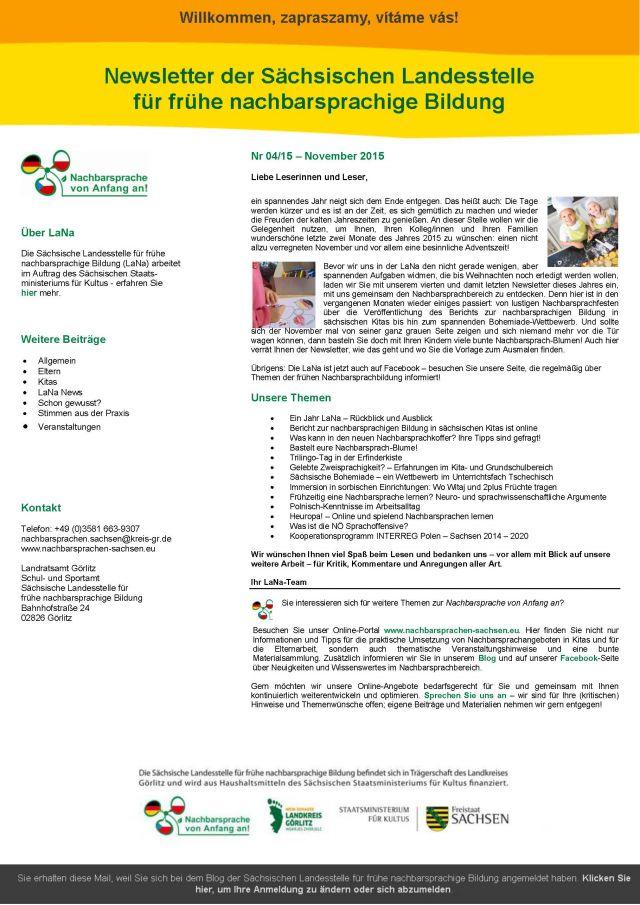 Dokumentbild LaNa-Newsletter Nr. 15/04