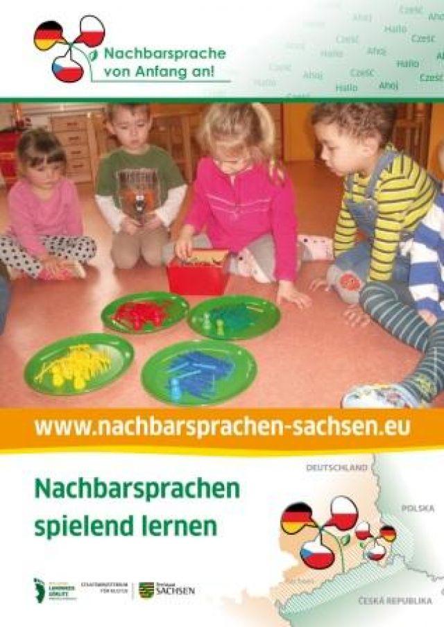 """Dokumentbild Poster """"Nachbarsprache spielend lernen"""""""