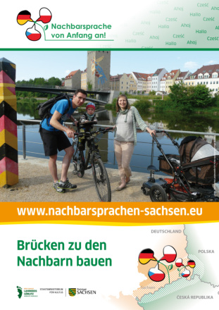 "Dokumentbild Poster ""Brücken zu den Nachbarn bauen"""