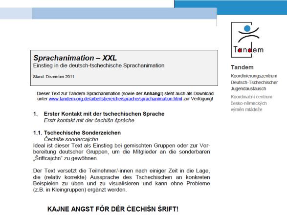Dokumentbild Sprachanimation XXL