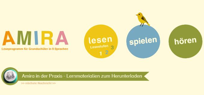 Dokumentbild Amira - Leseprogramm für Grundschüler in 7 Sprachen