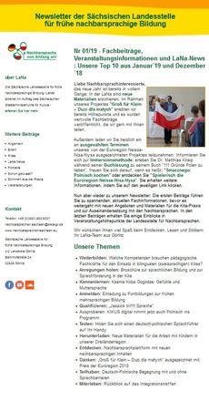 Dokumentbild LaNa-Newsletter Nr. 19/01