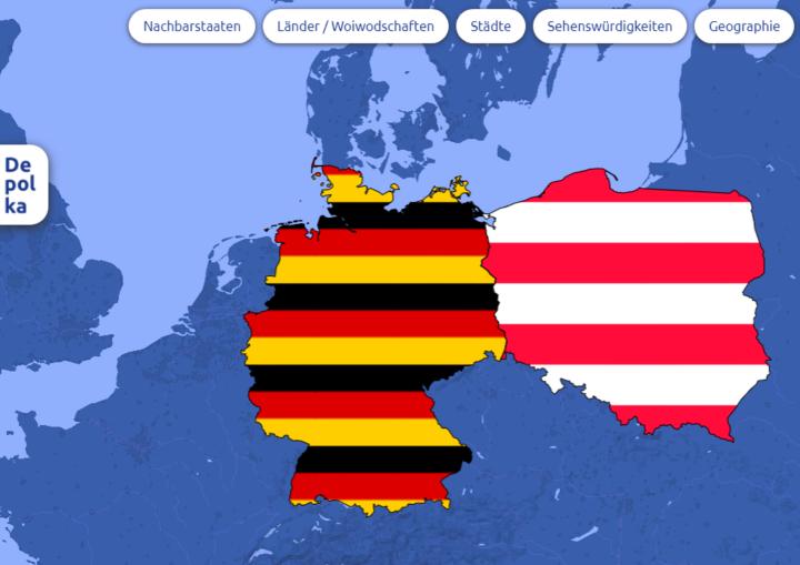 Dokumentbild Depolka  - interaktive deutsch-polnische Landkarte