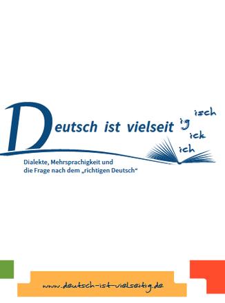 Dokumentbild Faltblatt Deutsch ist vielseitig