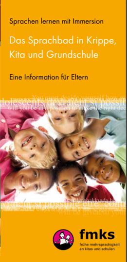 """Dokumentbild Fremdsprachen lernen mit dem """"Sprachbad""""  - Immersion in Krippe, Kita und Grundschule - eine Information für Eltern"""