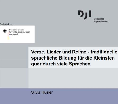 Dokumentbild Verse, Lieder und Reime - traditionelle sprachliche Bildung für die Kleinsten quer durch viele Sprachen