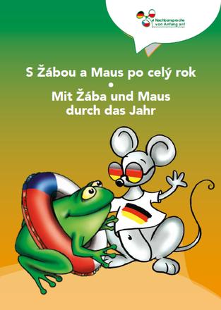 """Dokumentbild Deutsch-tschechisches Malbuch """"S Žábou a Maus po celý rok - Mit Žába und Maus durch das Jahr"""""""""""