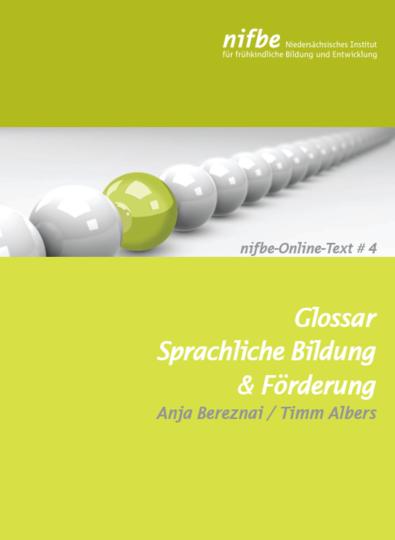 Dokumentbild Glossar Sprachliche Bildung  & Förderung