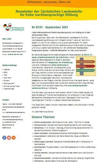 Dokumentbild LaNa-Newsletter Nr. 21/03