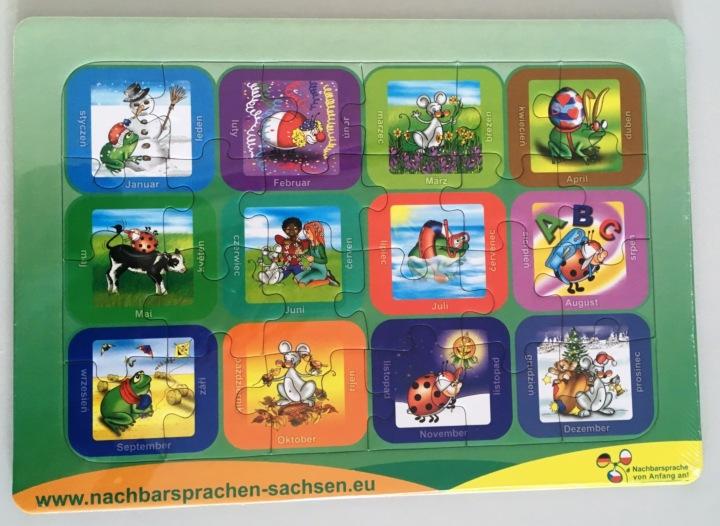 Dokumentbild Puzzle - Mit Biedronka, Maus und Žába durch das Jahr