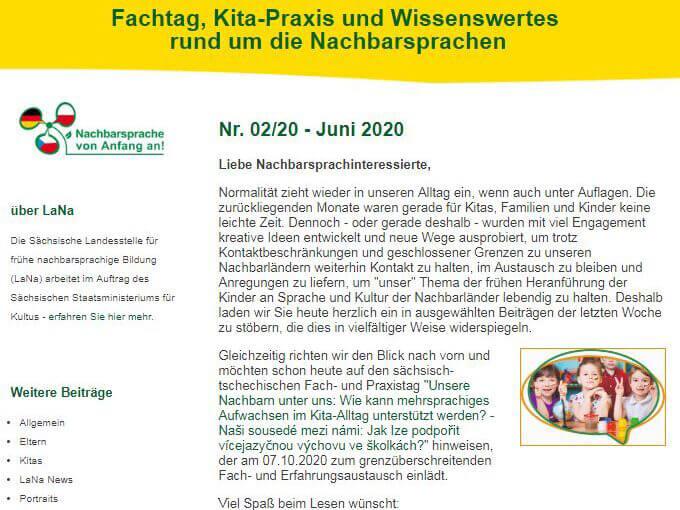Newsletter rund um nachbarsprachige Bildung