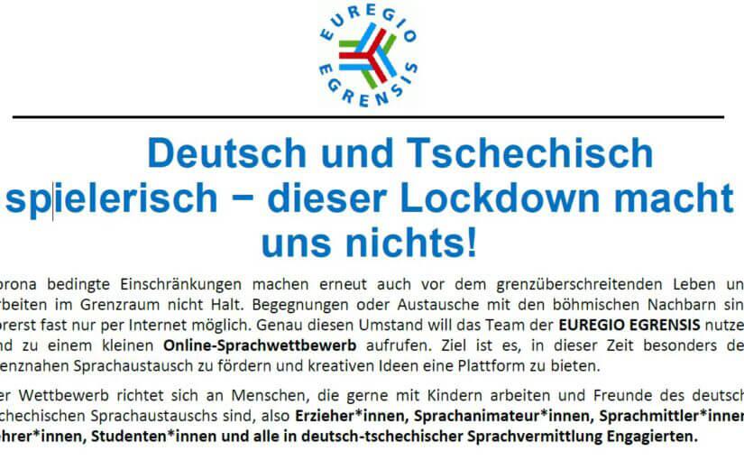 schriftlicher Aufruf zu einem Online Sprachwettbewerb