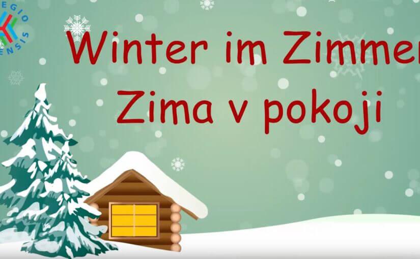 Winterlandschaft mit Haus und Baum