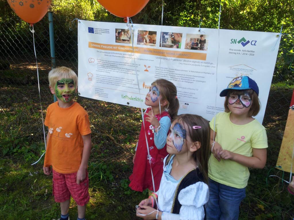 Kinder beim 1. deutsch-tschechischen Kindertag in Liberec