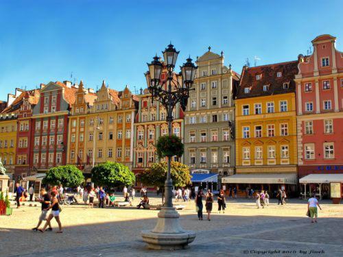 Rynek Glówny in Wroclaw
