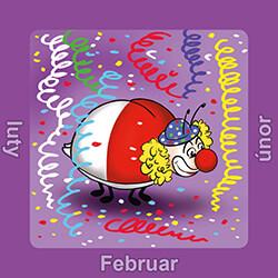 Kalendermotiv Februar mit Biedronka
